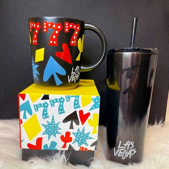 🎰♥️Starbucks Las Vegas  777 tumbler cup/mug set♠️